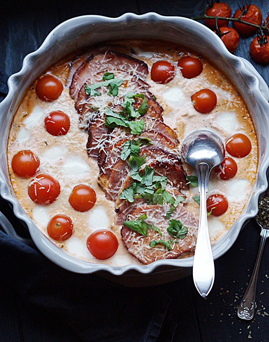 Italiensk, gratinerad kassler signerad Jennys rum och spis